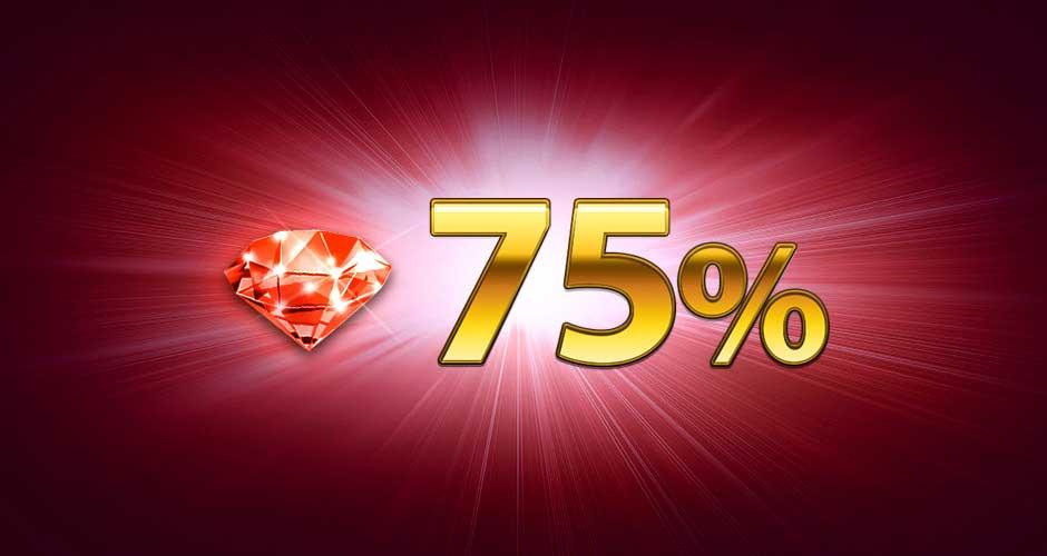 Бонус 75%